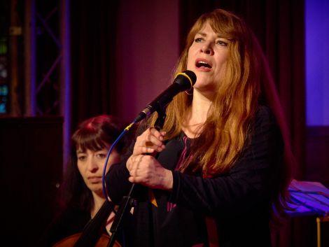 The 'wonderful' Christine Tobin at Lerwick Town Hall on Wednesday night - Photo: Chris Brown