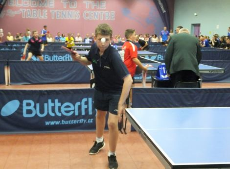 Scott Smith in action in table tennis on Sunday - Photo: Maurice Staples