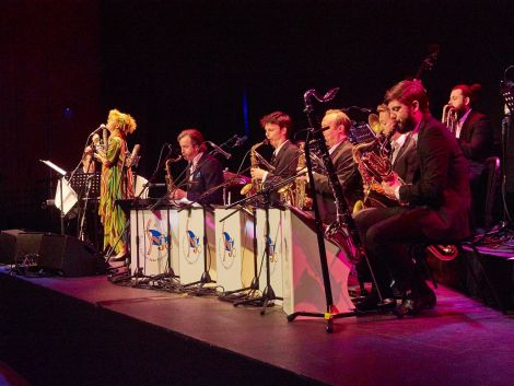 Reader performed with the Scottish National Jazz Orchestra (SNJO) in a Creative Scotland-funded venture. Photo: Chris Brown