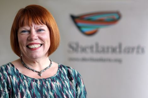 The new chairwoman of Shetland Arts, Lorraine Hall.