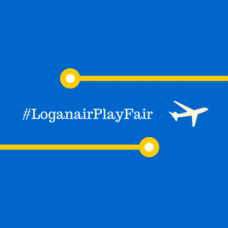 The logo for the 'Islanders against Flybe & Loganair's excessive prices' campaign.
