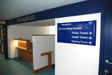 The reception area at the new surgery. Photo courtesy of DITT.