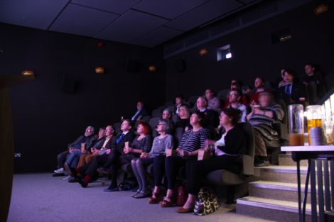 The audience at Tuesday's launch. Prestigious guests for this year's festival include Olivier award-winning Scottish actress Lindsey Duncan. Photo: Lauren Daughton