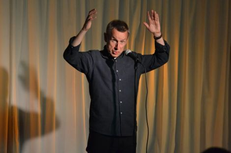 BBC Radio 4 mainstay Jeremy Hardy enthralled the Lerwick audience on Tuesday night. Photo: Shetnews