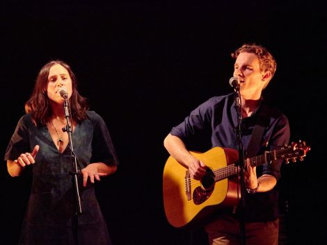 """Half-Welsh, half-Mississippi singing duo Lewis & Leigh left the crowd """"utterly mesmerised""""."""