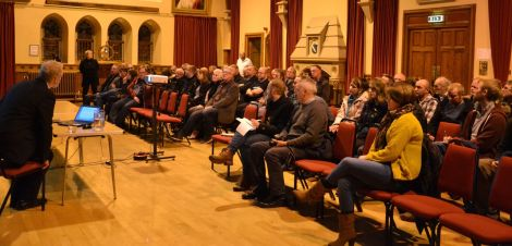 Over 60 people attended the official launch of Wir Shetland on Wednesday night. Photo: Shetnews
