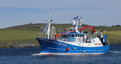 The new Guardian Angell arriving at Lerwick harbour on 5 August 2015 - Photo: Hans J Marter/ShetNews