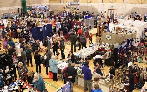 This year' craft fair attracted 130 exhibitors - Photos: Hans J Marter/ShetNews