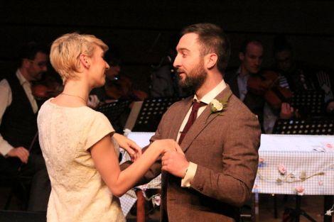 Mezzo-soprano Laura Margaret Smith (Vaila) and Andrew Dickenson (Iain).