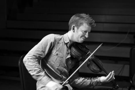 Isles fiddler Ross Couper is in the running for a trad award for best instrumentalist. Photo: Floortje Robertson