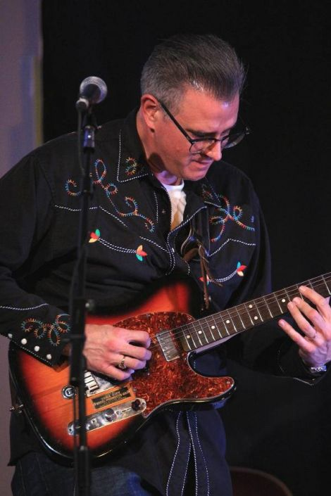 Organiser Karl Simpson said Larry Garvin's guitar playing was among the best he's ever seen. Photo: Davie Gardner