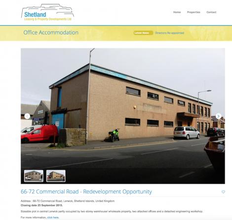The property advert on SLAP's website.