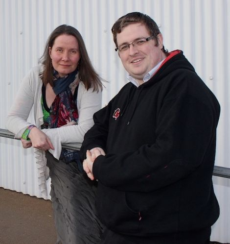 """Campaigner Scott Preston (right) is calling on Loganair not to raise its already """"punishingly high"""" air fares."""