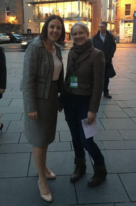 Labour's Shetland candidate Robina Barton (right) pictured with Scottish leader Kezia Dugdale.