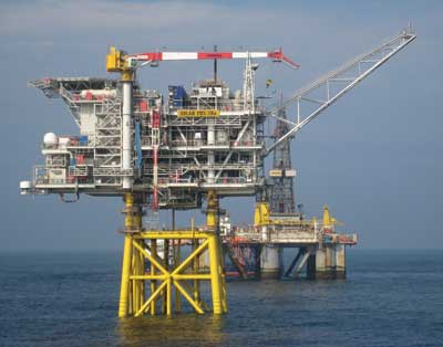 The Solan rig west of Shetland, which will be unmanned after its first year of operation.