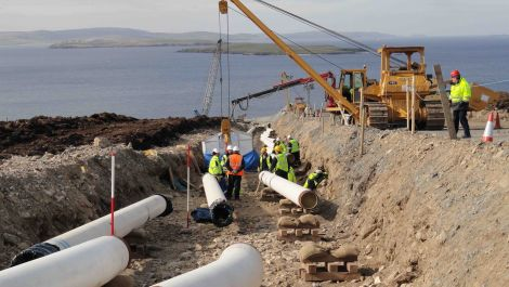 Fishermen in Shetland are being warned of the dangers of posed by Total's gas pipelines in Yell Sound. Photo: Shetnews/Hans J. Marter