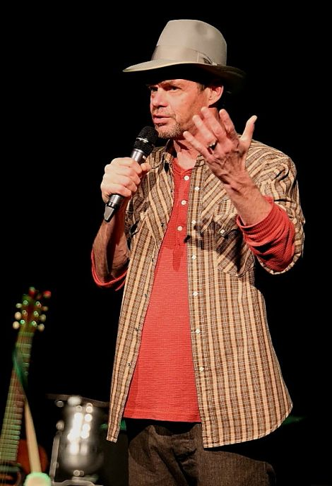 The 61 year old comedian had the crowd in hoots of laughter regularly during the two-hour set. Photo: Davie Gardner.
