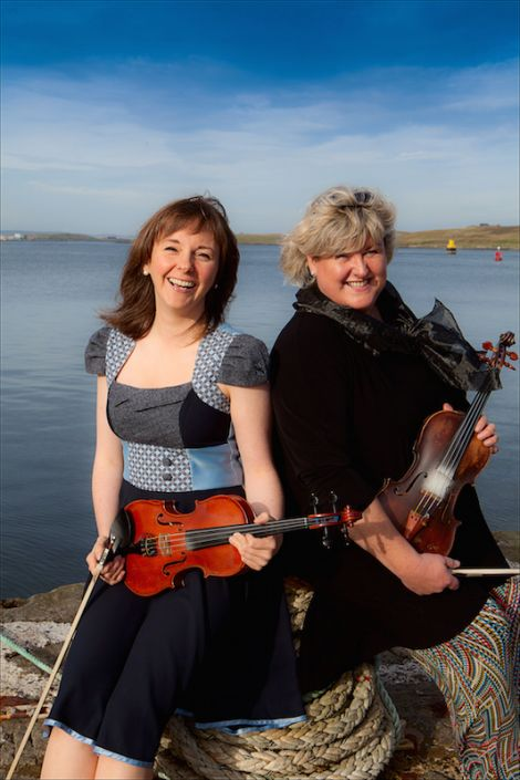 Fiddle Frenzy curators Claire White and Eunice Henderson - Photo: Shetland Arts