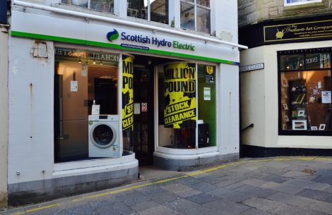 Stock clearance at the Lerwick Hydro Electric shop