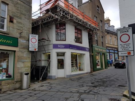 Five drivers were fined on Wednesday after ignoring the vehicle ban on Lerwick's Commercial Street