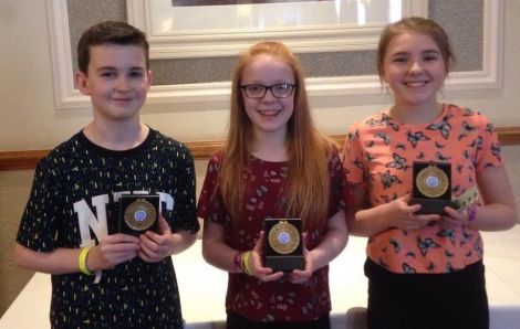 Shetland's successful young trad trio Mike Laurenson, Anya Johnston and Jodie Smith.