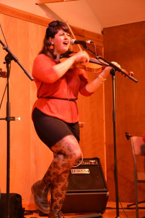 Laura Cortese and her Dance Cards were a bit of a show-stealer at Voe Hall. Photo: Shetnews
