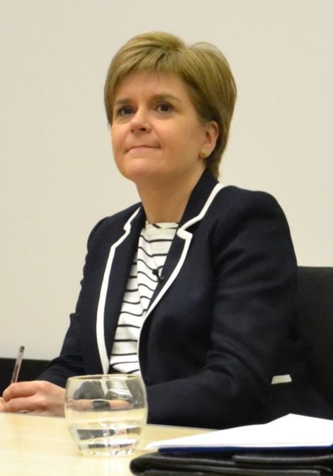 SNP leader Nicola Sturgeon is arguing the case for remaining in the EU. Photo: Shetnews/Neil Riddell