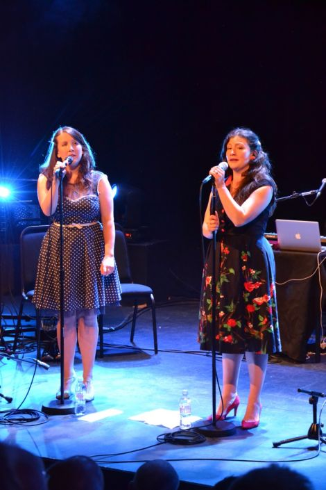 Becky and Rachel Unthank in very fine voice at Mareel on Thursday night. Photo: Kelly Nicolson Riddell
