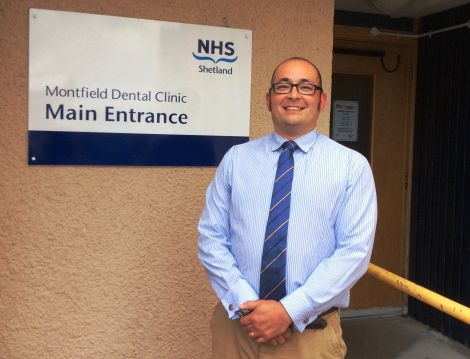 NHS SHetland's newly-appointed dental director Brian Chittick.