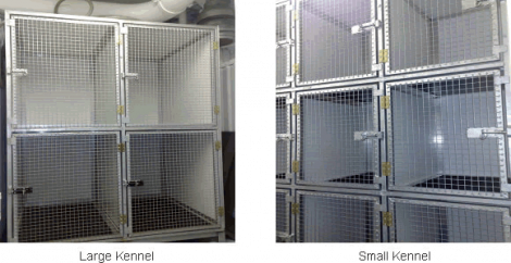 NorthLink's large and small on-board kennels.