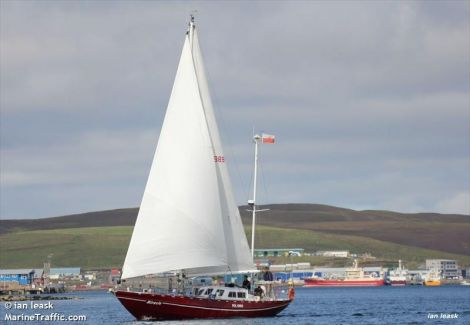 The Miracle during a previous visit to Lerwick harbour, as photographed by the late Ian Leask.
