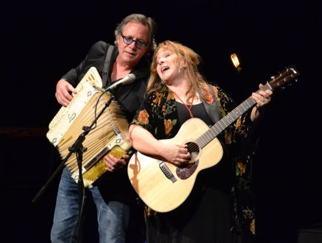 Gretchen Peters, accompanied by husband and musical partner Barry Walsh, at a busy Mareel on Tuesday night. Photo: Kelly Nicolson Riddell