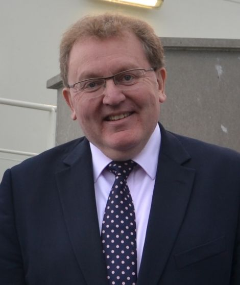Scottish secretary of state David Mundell on a visit to Shetland last year. Photo: Shetnews