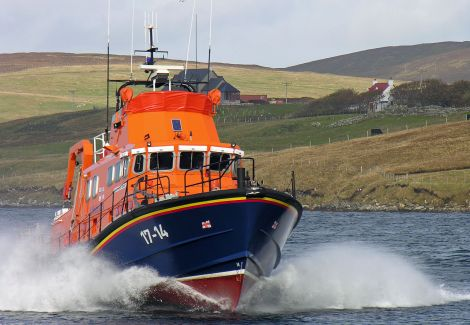 Aith lifeboat was tasked to assist a swimmer in difficulties - Photo: ShetNews