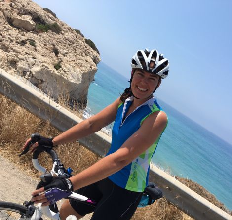 Linda also did some training with her sister Louise Parr, a Shetland triathlete who lives out in Cyprus.