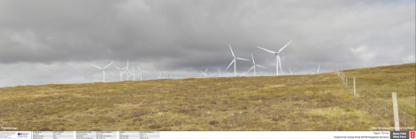 The planned Beaw Field wind farm as seen from Burravoe - Image: Peel Energy