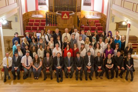 The further education ceremony was held on Wednesday evening.