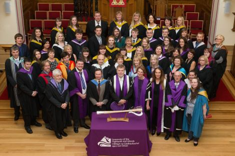 The higher education graduation ceremony took place on Tuesday evening in Lerwick.