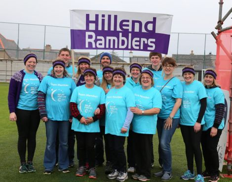 The Hillend Ramblers, who won an award for raising the most money for a team at the 2016 Relay For Life event. Photo: Geoff Leask.