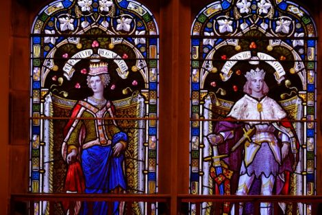 The Marriage Window – celebrating the marriage in 1469 of Margaret, daughter of Christian I, King of Denmark, Norway and Sweden, to King James III of Scotland - Photo: SIC