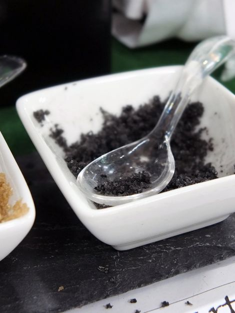 Shetland Sea Salt mixed with squid's ink.