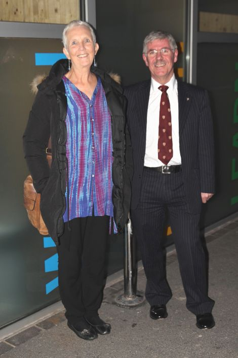 Ann Cleeves and Dr James Grieve proved to be an enjoyable double act at Mareel in Lerwick. Photo: Davie Gardner