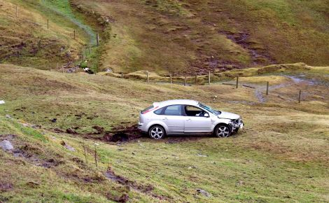The car Balazs Onhausz was travelling in left the road and rolled down a slope opposite the Black Gaet junction back in April.