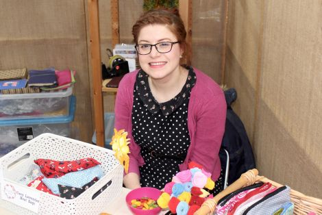 Merrymaking Sewing's Jill Hood is one of 27 first-time exhibitors. Photo: Chris Cope/ShetNews