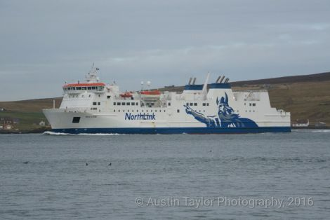 The passenger ferry Hjaltland is due to go into dry dock early next month - Photo: Austin Taylor