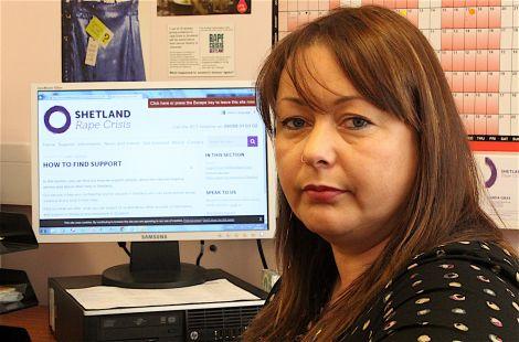 Shetland Rape Crisis worker Linda Gray.