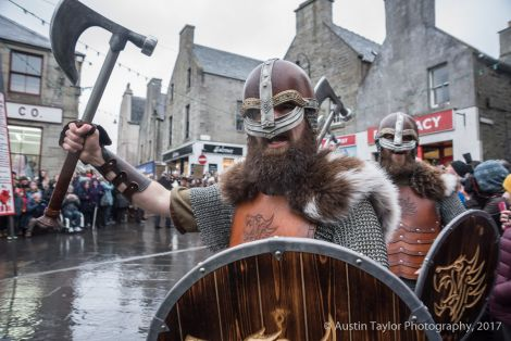 The jarl's squad at the Market Cross during the proclaiming of the bill.