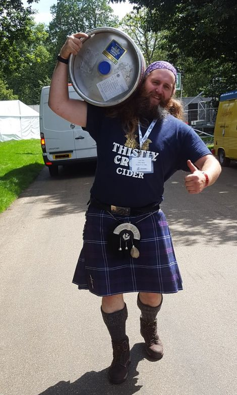 Lyall Gair has struck up a friendship with cider producer Thistly Cross, which is launching a special drink to tie in with his year as Up Helly Aa guizer jarl.