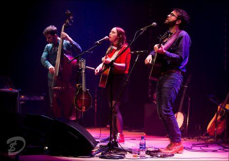 Jeff Picker, Sarah Jarosz and Anthony Da Costa playing in perfect harmony. Photo: Dale Smith