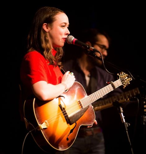 Multiple Grammy nominee Sarah Jarosz during Sunday night's sell-out show at Mareel. Photo: Dale Smith
